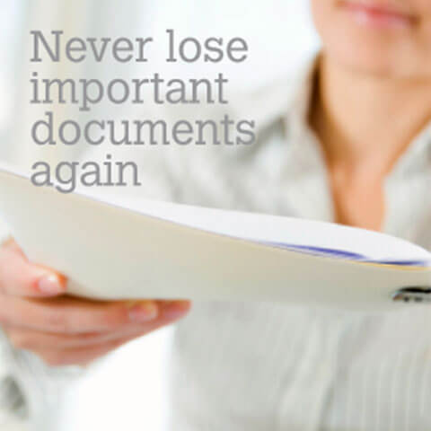 Never Lose Important Documents